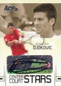 2006 Ace Authentic Grand Slam Center Court Stars Autograph Novak Djokovic #CC-2