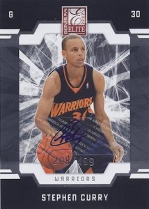2009-10 Donruss Elite #166 Autograph Stephen Curry RC
