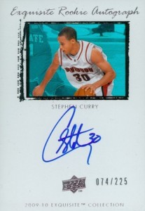 2009-10 Exquisite Collection #64 Autograph Stephen Curry RC