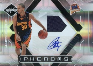 2009-10 Limited #156 Autographed Jersey Stephen Curry RC