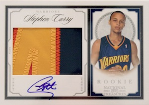2009-10 National Treasures #206 Autographed Patch Stephen Curry RC