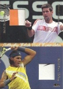 2012 Ace Authentic Grand Slam 3 Dual Memorabilia Novak Djokovic, Rafael Nadal #DMS3