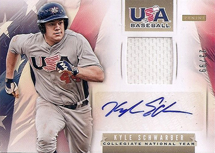2013 Panini USA Baseball Autographed Jersey Kyle Schwarber