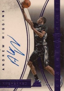 2014-15 Panini Preferred Basketball Dynamic Debuts Purple Andrew Wiggins