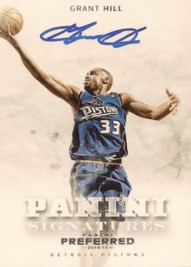 2014-15 Panini Preferred Basketball Signatures Grant Hill
