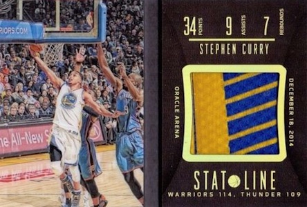 2014-15 Panini Preferred Basketball Stat Line Bookley Curry