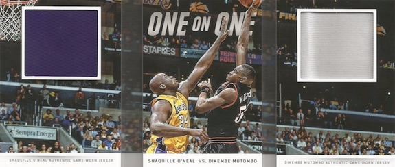 2014-15 Panini Preferred Basketball VS one on one Shaquille Mutombo