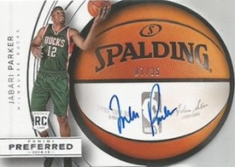 2014-15 Panini Preferred Jabari Parker RC #20 Roundball Autograph