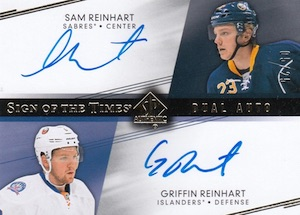 2014-15 SP Authentic Hockey Sign of the Times Dual