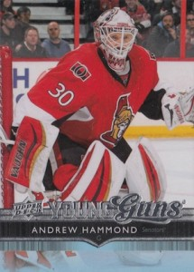 2014-15 SP Authentic Hockey Upper Deck Update Young Guns Andrew Hammond