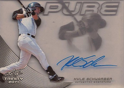 2014 Leaf Trinity Pure Autograph Kyle Schwarber