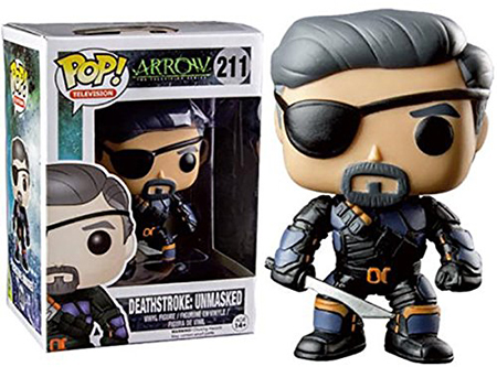 2015 Funko Pop Arrow 210 Deathstroke Unmasked