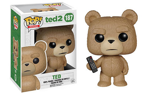 2015 Funko Pop Ted 2 187 Ted with TV Remote