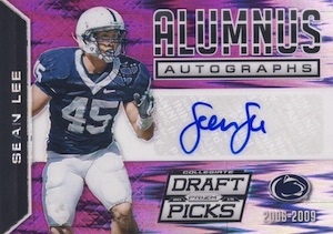 2015 Panini Prizm Collegiate Draft Picks Football Alumnus Autographs Purple Prizm Sean Lee