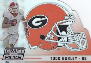 2015 Panini Prizm Collegiate Draft Picks Football Helmet Gurley