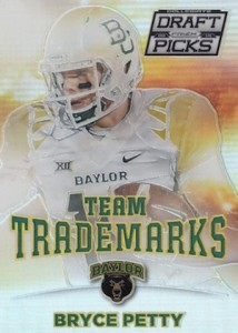 2015 Panini Prizm Collegiate Draft Picks Football Team Trademarks Petty