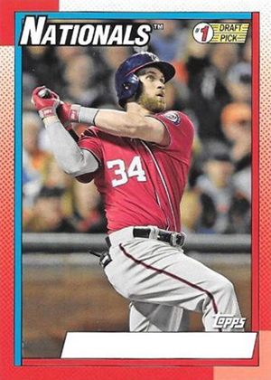 2015 Topps Archives 1990 1 Draft Picks No Name on Front Bryce Harper