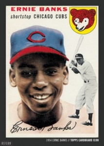 2015 Topps Cardboard Icons Baseball Ernie Banks Basic