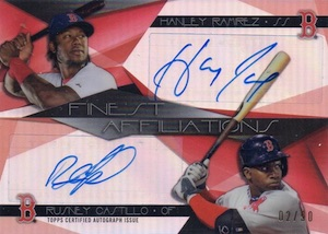 2015 Topps Finest Baseball Affiliations Dual Autographs
