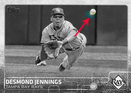 2015 Topps S2 Spark Spot 674 Desmond Jennings copy