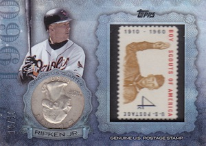 2015 Topps Series 2 Baseball Birth Year Coin Stamp Ripken