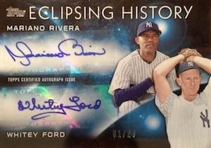2015 Topps Series 2 Baseball Eclipsing History Dual Autographs Rivera Whitey Ford