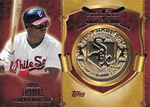 2015 Topps Series 2 Baseball First Home Run Medallions Frank Thomas