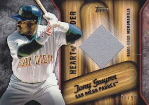 2015 Topps Series 2 Baseball Heart of the Order Relics Gwynn