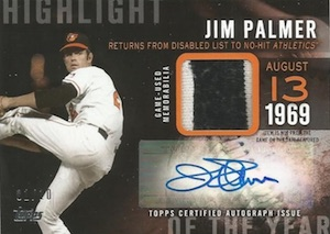 2015 Topps Series 2 Baseball Highlight of the Year Autographed Relics
