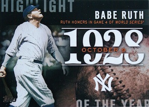 2015 Topps Series 2 Baseball Highlight of the Year Babe Ruth