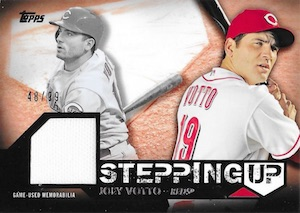 2015 Topps Series 2 Baseball Stepping Up Relics Votto