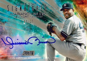 2015 Topps Stadium Club Baseball Lone Star Signatures Mariano Rivera