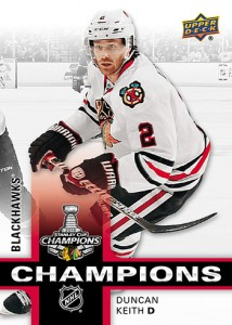 2015 Upper Deck Chicago Blackhawks Stanley Cup Champions Duncan Keith