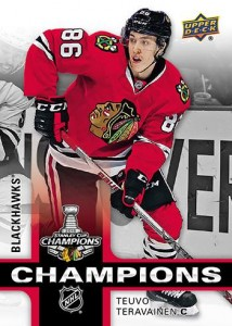 2015 Upper Deck Chicago Blackhawks Stanley Cup Champions Hockey Cards 2