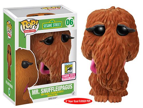 FUnko Pop Sesame Street 06 Flocked Mr Snuffleupagus