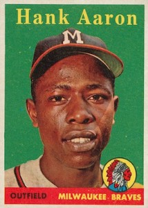 1958 Topps Baseball Hank Aaron Yellow