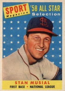 1958 Topps Baseball Sport Magazine All-Star Musial