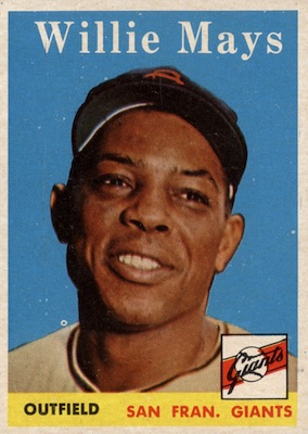 1958 Topps Baseball Willie Mays