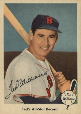 1959 Fleer Ted Williams Baseball #63 Ted's All-Star Record