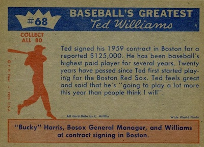 1959 Fleer Ted Williams Baseball Cards 4