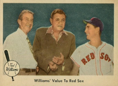 1959 Fleer Ted Williams Baseball Value to Red Sox Babe Ruth Collins