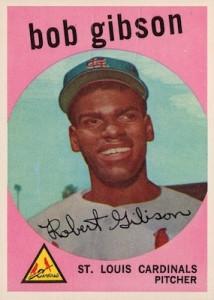 1959 Topps Baseball Bob Gibson RC