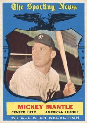 1959 Topps Baseball Mickey Mantle All-Star