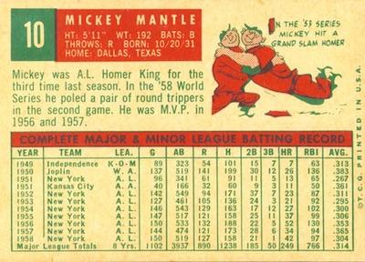 1959 Topps Baseball Cards 3