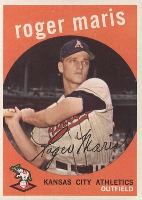 1959 Topps Baseball Roger Maris