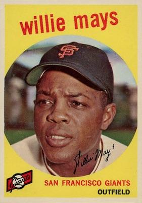 1959 Topps Baseball Willie Mays