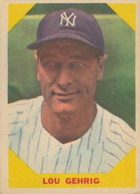 1960 Fleer Baseball Lou Gehrig