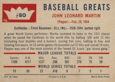 1960 Fleer Baseball Cards 5