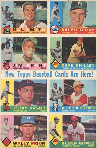 1960 Topps Baseball Advertising Panel Uncut Sheet