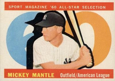 1960 Topps Baseball All-Star Mantle